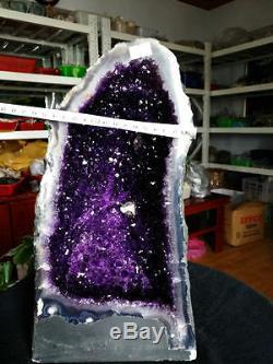 21.3ib 13.7 Violette En Grappes Geode Amerique De Bresil Naturel Du Bresil Cristal