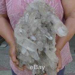 21.5lb Aaaaa +++ Naturel Tibétain Quartz Crystal Cluster
