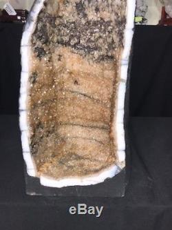 21 Cathédrale Citrine Géode Quartz Cristal Cluster Améthyste