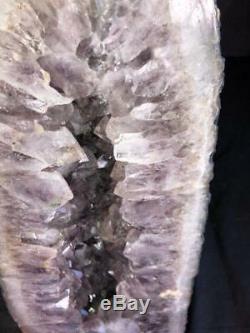 21 Spécimen En Grappes Naturelles Brésil De La Cathédrale Amethyst Geode Crystal Quartz