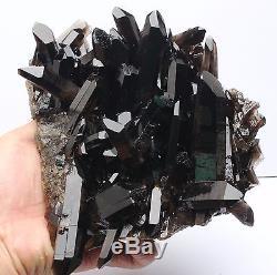 2100g Aaa +++ Rare Clair Naturel Beau Noir Quartz Cristal Cluster Spécimen