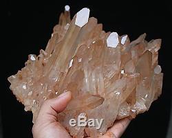 2130g Nouveau Trouver Clair Naturel Rose Quartz Cristal Cluster Original Spécimen
