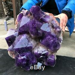 213lb Naturelles Améthyste Énorme Cluster Rares Big Mac De Cristal De Quartz Des Échantillons Minéraux