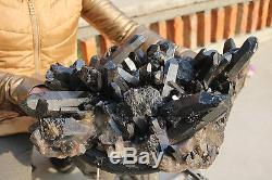21600g (47.5ib) Spécimen Tibétain Naturel Magnifique De Grappe De Cristal De Quartz Noir