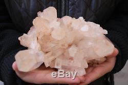 2160g Naturel Beau Spécimen Tibétain Clair Cluster En Cristal De Quartz # 101