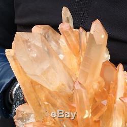 22.22lb Cluster Naturel Spécimen Minéral Cristal De Quartz Point De Cicatrisation Ap4583