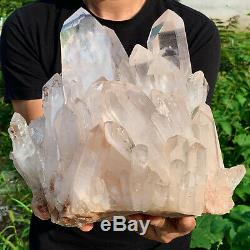 22.57lb Effacer Naturel Beau Blanc Cristal Quartz Cluster Specimencf617