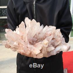 23.07lb Cluster Naturel Minéral Spécimen Cristal Point De Cristal Guérison At1852