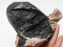 2310g Rare Naturel Noir Cristal Quartz Cluster Minéral Spécimen