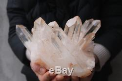 2340g De Beaux Échantillons De Grappe De Cristal De Quartz Clair De Graine De Lémurien Naturel