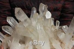 24.18lb Aaa +++ Clair Blanc Naturel Quartz Crystal Cluster Specimen