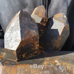 24.57lb Naturel Fumé Citrine Cluster Cristal De Quartz Spécimen Point De Guérison Tt93