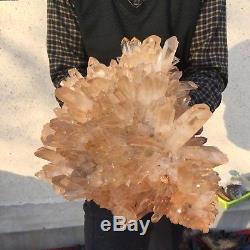 24.6lb 6.3 Naturel Beau Rock Quartz Cristal Cluster Gemme Spécimen Bk9