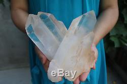 2400g Naturel Belle Clair Cristal De Quartz Cluster Spécimen Tibétain # 003