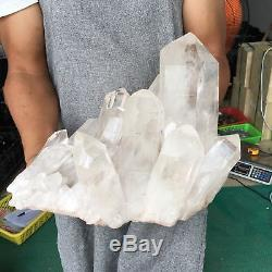 25.52lb Cluster De Quartz Clair Naturel Spécimen De Cristal Minéral De Guérison Av1630