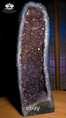 25 Améthyste Cristal Geode Cluster Cathédrale 47 Pounds Livraison Gratuite