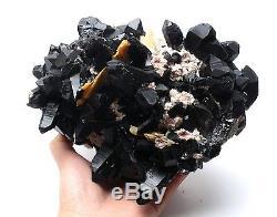 2598g Incroyable Noir Naturel Quartz Crystal Cluster Mineral Spécimen Guérison