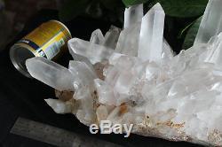 26.5lb Points De Cliquet Cristal Clair Naturellement Clair Naturel Original Brésil
