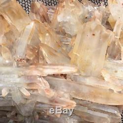 28.16lb Cluster Naturel Spécimen Minéral Cristal De Quartz Point De Cicatrisation Ap4575