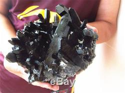 2828g Rarenatural Beau Spécimen Tibétain En Quartz Noir Quartz 2 #