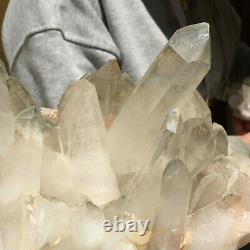 2860g Grand Naturel Blanc Clair Quartz Cluster Rugueux De Guérison Des Échantillons