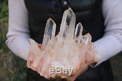 2880g Naturel Belle Clair Cristal De Quartz Cluster Spécimen Tibétain # 004