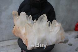 29500g (65lb) Naturel Belle Spéciale Cluster En Cristal De Quartz Spécimen Tibétain B99