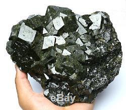 2953g Natural Andradite Grenat Cristal Quartz Cluster Mongolie Intérieure / Chine