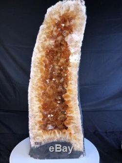 29qual Aaa Citrine Géode Quartz Cristal Cluster Cathédrale Spécimen Brésil