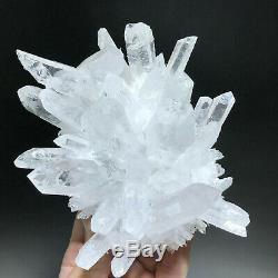 2lb Nouveau Trouver Assez Clair Blanc Cristal De Quartz Grappe Vug Échantillons Minéraux
