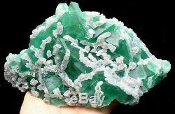 3.2lb Naturel Calcite Octahedral Vert Fluorite Cristal Cluster Minéral Spécimen