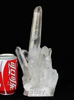 3.58lb Aaa +++ Blanc Naturel Clair Quartz Spécimen De Groupe De Cristal