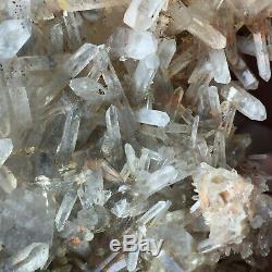 3.7lb Grand Naturel Vert Clair Quartz Cluster Brut Des Échantillons De Guérison