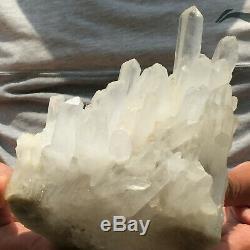 3.8lb Grand Naturel Blanc Clair Quartz Cluster Brut Des Échantillons De Guérison
