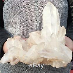 3.93lb Cluster Naturel Minéral Spécimen Cristallin Point De Guérison 7.4 Uk1436