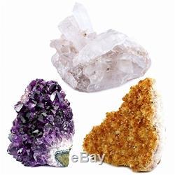 3 Clusters En Cristal Spécimens Dalle De Quartz En Pierre De Cristal De Roche Naturelle Brésil Grand