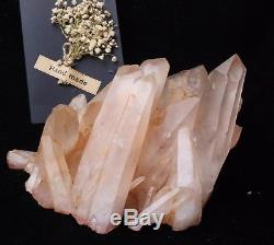 3016g Naturel Clair Orange Peau Quartz Cristal Cluster Guérison Minéral Spécimen