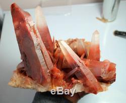3071g A + Rare Natural Nouveau Trou De Cristal Rouge Quartz Spécimen Reiki Wicca
