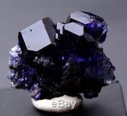 31g Naturel Violet. Spécimen Minéral De Grappe De Quartz De Quartz De Fluorite Bleu