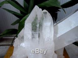 32.37lb Énorme Naturel Point De Grappe De Cristal De Quartz Clair Spécimens