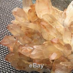 33.22lb Cluster Naturel Spécimen Minéral Cristal De Quartz Point De Cicatrisation Ap4574