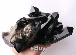 3340g Naturel Noir Quartz Point Cristal Cluster Baguette Guérison Spécimen Minéral