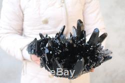 3360g Naturel Beau Spécimen Tibétain De Grappe De Cristal De Quartz Noir # 99