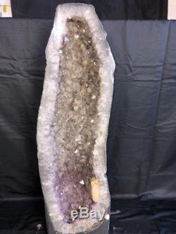 34 Améthyste Géode Cristal De Quartz Cluster Cathédrale Spécimen Brésil