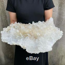 36.8lbs Clair Énorme Quartz Cluster Naturel Cristal Minéral Des Échantillons De Guérison