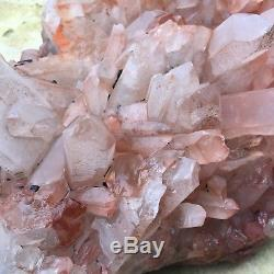 36.9lb Grappe De Cristal De Spécimen De Quartz De Grappe De Cristal Rouge Naturel Uk2871