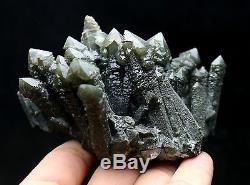 364g Nouveau Trouver Naturel Squelette Vert Elestial Quartz Crystal Cluster Specimen