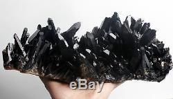 3750g Clair Naturel Beau Noir Quartz Crystal Cluster Specimen