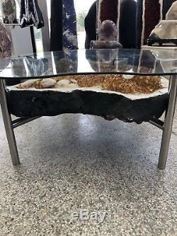 38 Citrine Table Cathédrale Géode Cristal Quartz Grappe Spécimen Améthyste