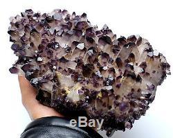 3807g Rare! Nouveau Trouver Améthyste Quartz Cristal Cluster Spécimen 01